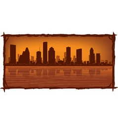 houston skyline vector image