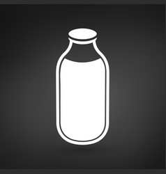 milk or water bottle icon on vector image