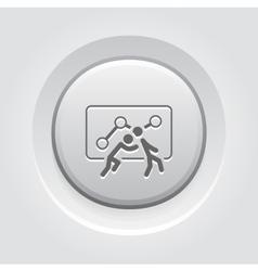 Teamwork Icon Grey Button Design vector image vector image