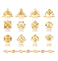 tribal business logo card vector image vector image
