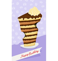 Cartoon high cake The trail from the teeth Funny vector image vector image