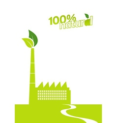 Ecology factory art vector image