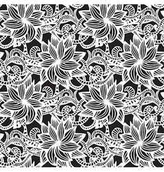 Hand-drawn seamless pattern vector image