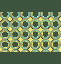 seamless geometric pattern in shades of green vector image vector image