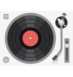 Vinyl turntable Flat vector image vector image