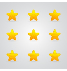 yellow star icons set vector image vector image