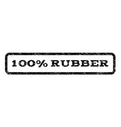 100 percent rubber watermark stamp vector