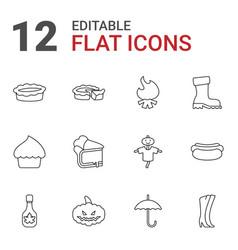 12 seasonal icons vector