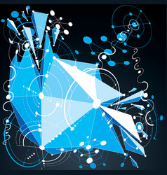 3d abstract blue background created in bauhaus vector