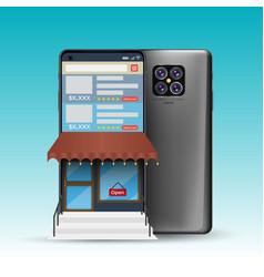 3d smartphone vector image