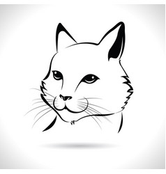 A cat face design on white background vector