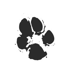A paw print vector