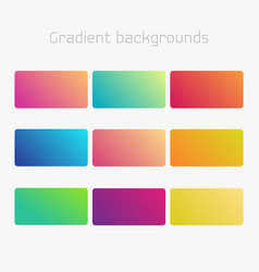 Abstract creative multicolored background set vector