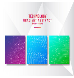 abstract technology cover background vector image