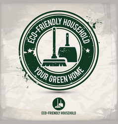 alternative eco friendly household stamp vector image