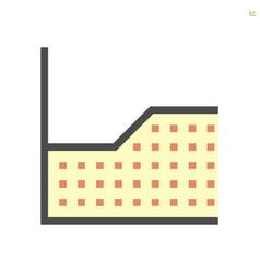 area graph for statistics display icon design vector image