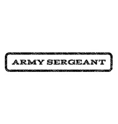 Army sergeant watermark stamp vector