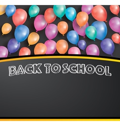 Back to school card with flying balloons vector