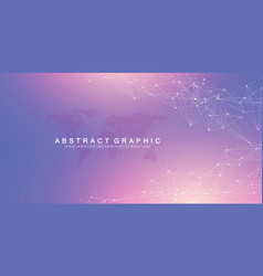 big data visualization geometric abstract vector image