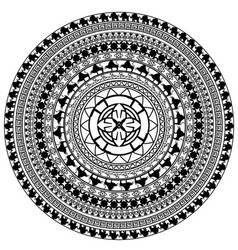 Black and white image of circle vector