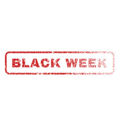 black week rubber stamp vector image