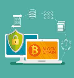 block chain tecnology concept vector image