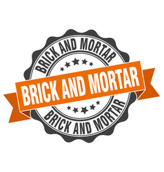 brick and mortar stamp sign seal vector image