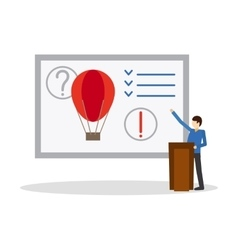 Business presentation flat icon vector image