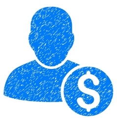 Businessman Grainy Texture Icon vector image