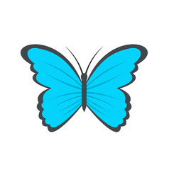 Butterfly in nature icon flat style vector