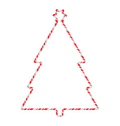 Candy cane frame border tree shape christmas vector