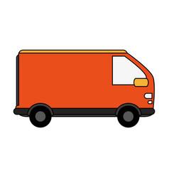 Cargo van design vector