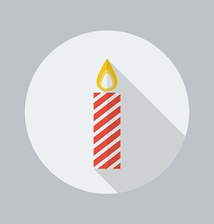 Christmas Flat Icon Candle vector