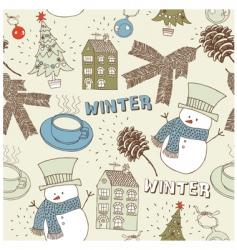 Christmas seamless card vector image