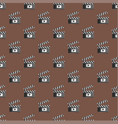 Clapper board seamless pattern vector