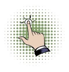 Click hand comics icon vector image