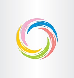 Color tornado spiral abstract background vector
