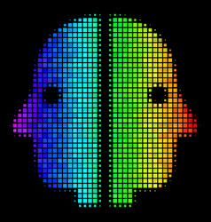 colored dot dual face icon vector image