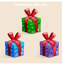 Colors Christmas gift box vector