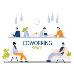 coworking space flat office vector image