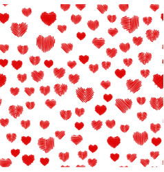 crosshatching valentines seamless vector image