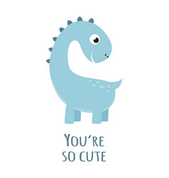 cute dinosaur isolated on white vector image
