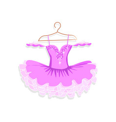 dance dress with sparkles on a hanger vector image