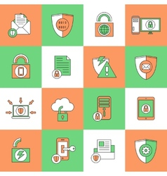 Data Protection Security Icons vector image
