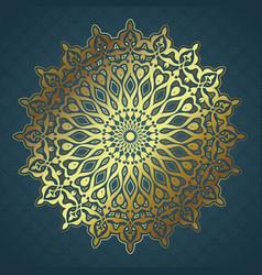 decorative mandala background vector image