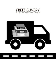 delivery service books vector image
