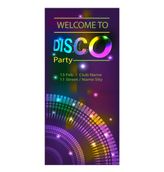 disco flyer with glows vector image
