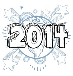 doodle pop new year vector image
