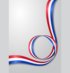 Dutch flag wavy background vector