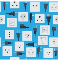 Electrical outlets plugs seamless pattern vector image